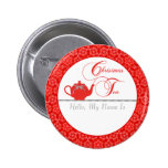 Red Lace Christmas Tea Name