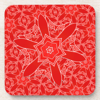 Red Lace Drink Coasters