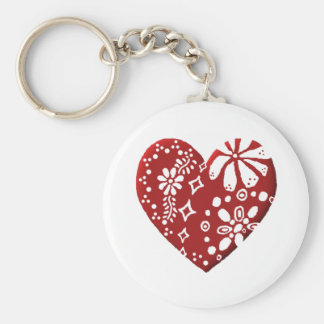 Red Lace Heart Keychains