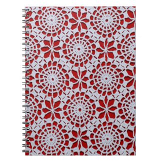 Red Lace Notebook