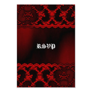 Red Lace Vampire Goth Wedding RSVP cards