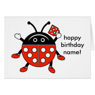 Red Lady Bug Greeting Card with Envelope