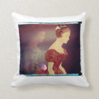 Red Lady by Ann Marie Donahue Cushion
