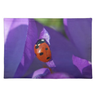 Red ladybird on crocus placemat