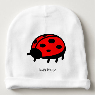 Red ladybug baby beanie
