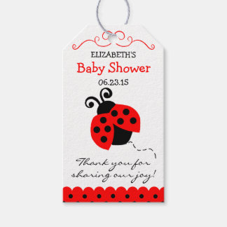 Red Ladybug Baby Shower Guest Favor- Thank You Gift Tags