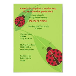 Red Ladybug Baby Shower or Birthday Invitation
