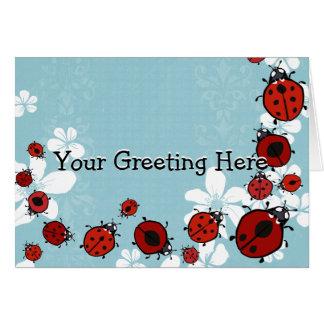 Red Ladybug Card