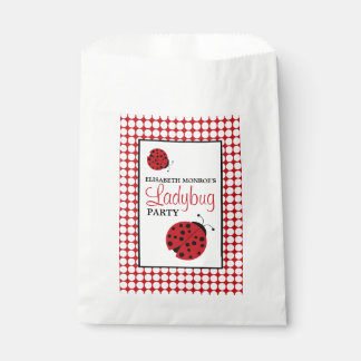 Red Ladybug Children's Birthday Party Favour Bags