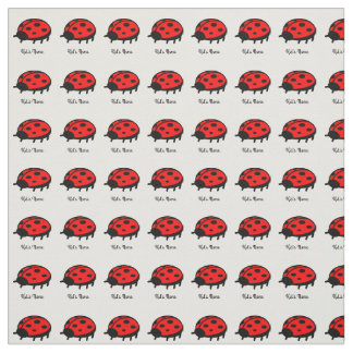 Red ladybug fabric