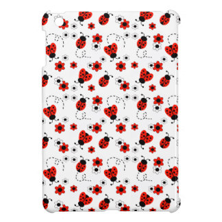 Red Ladybug Lady Bug White Floral Teen Girl iPad Mini Cases