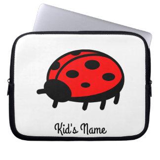 Red ladybug laptop sleeve