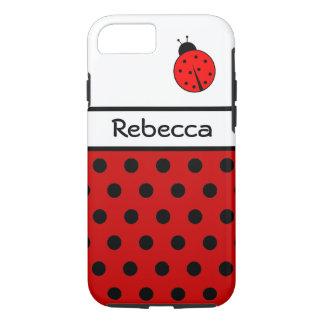 Red Ladybug ~ Named Ladiebug iPhone 7 Case