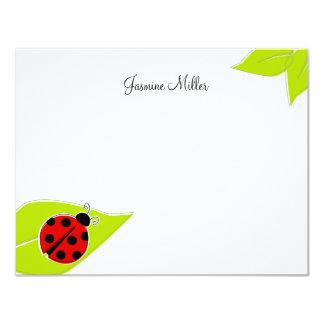 Red Ladybug Note Cards 11 Cm X 14 Cm Invitation Card