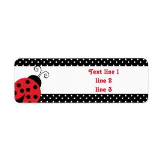 Red Ladybug Polka Dot Address Labels Stickers