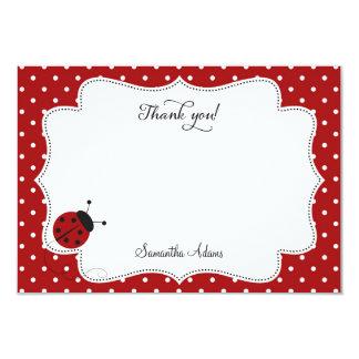 Red Ladybug Thank You Card 9 Cm X 13 Cm Invitation Card
