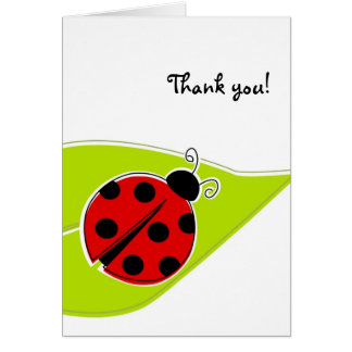 Red Ladybug Thank You Cards
