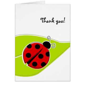 Red Ladybug Thank You Cards