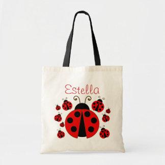 Red Ladybug Tote Bag Budget Tote Bag