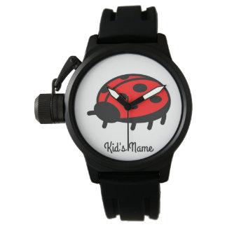 Red ladybug watch