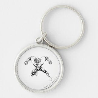 Red Lantern Corps - Rage Jump 3 Silver-Colored Round Key Ring
