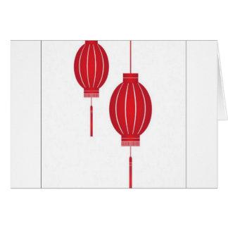 Red lantern design greeting cards