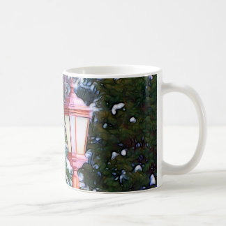 Red Lantern in winter original (Dark) Coffee Mug