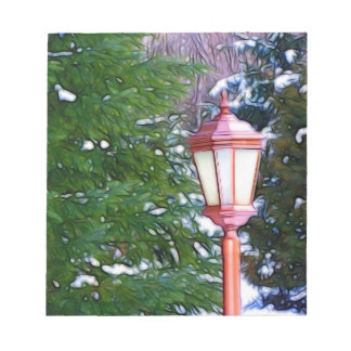 Red Lantern in winter original (Dark) Notepad