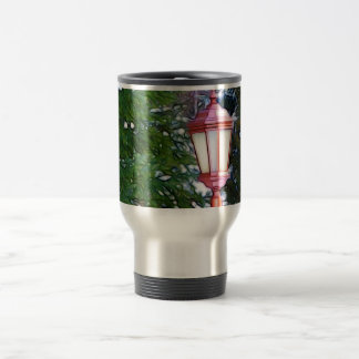 Red Lantern in winter original (Dark) Travel Mug
