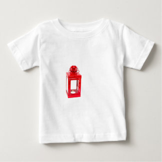 Red lantern with burning tealight on white baby T-Shirt