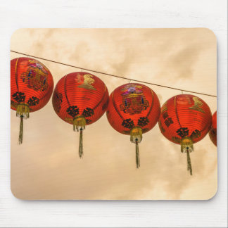 Red lanterns in Chinatown mousepad