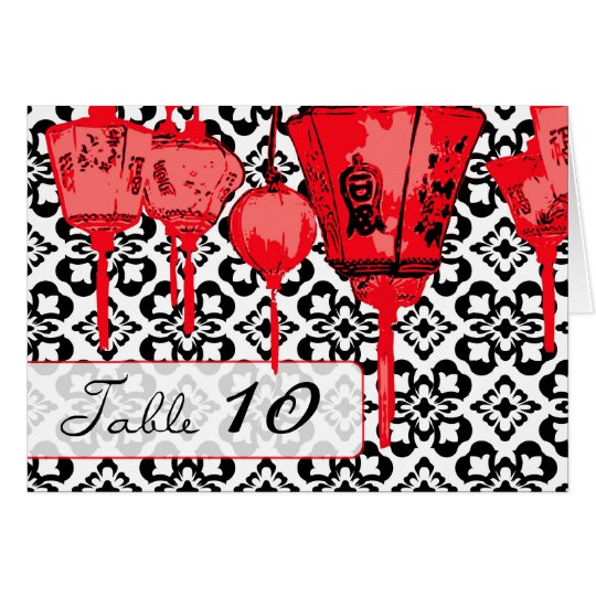Red Lanterns Table Card