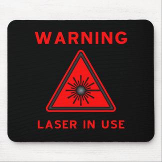 Red Laser Warning Symbol Mousepad