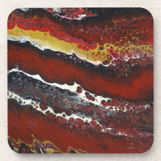 Red Lava Drink Coasters