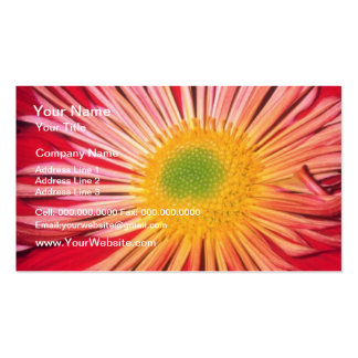Red Layered flowers Pack Of Standard Business Cards