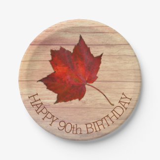 Red Leaf Custom Fall Party Plates