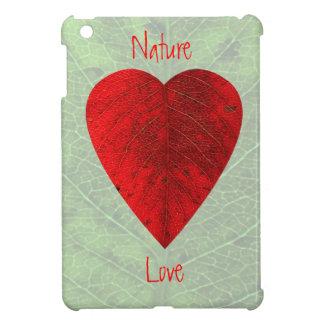 Red Leaf Love Nature Mini iPad Case Cover For The iPad Mini