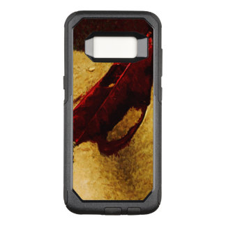 Red Leaf on Beach Abstract Impressionist OtterBox Commuter Samsung Galaxy S8 Case