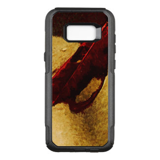 Red Leaf on Hawaiian Beach Abstract OtterBox Commuter Samsung Galaxy S8+ Case