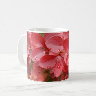Red Leafs White Coffee Mug
