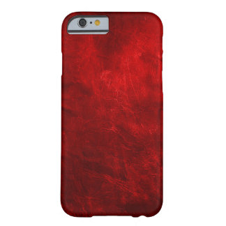 Red Leather Barely There iPhone 6 Case