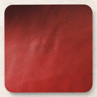 Red leather design coaster