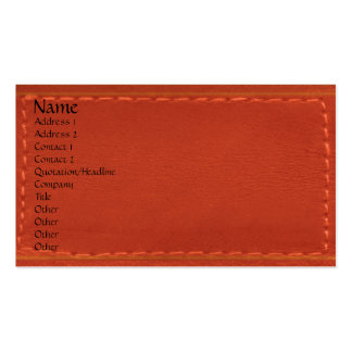 Red Leather Look Designer COWBOYS Business Cards