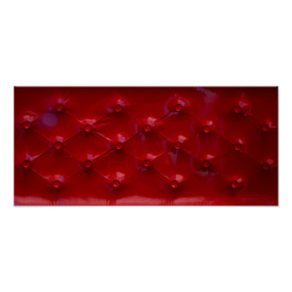 Red Leather Upholstery texture pattern elegant Poster