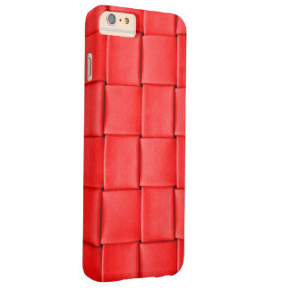 red leather weave background barely there iPhone 6 plus case