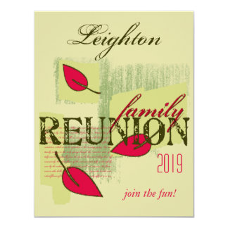 Red Leaves Family Reunion Card