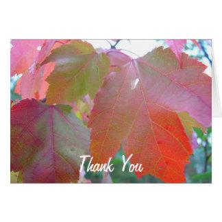 Red Leaves Pastor Appreciation Leader Note Card