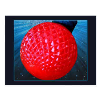 Red LED Christmas Light Bulb Postcard