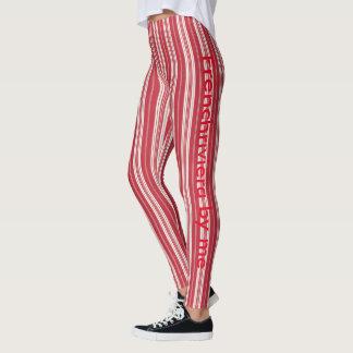 Red leggings stripes