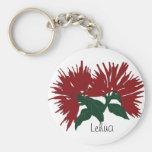 Red Lehua flower key chain